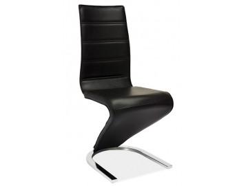 Jídelní čalouněná židle H-669 černá/bílá
