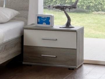 Noční stolek ( 1 ks ) JENNY 697 dub/bílá