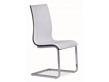 Jídelní čalouněná židle H-133 bílá/černá