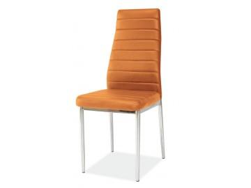 Jídelní čalouněná židle H-261 oranžová