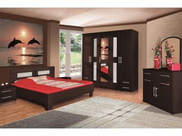 Ložnice LONDON ( postel 160, skříň, komoda, 2 noční stolky )