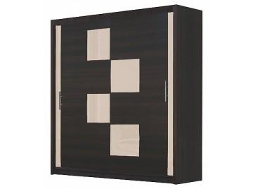 Šatní skříň MALTA 5 wenge/krém