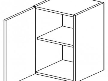 W60L horní skříňka jednodvéřová PREMIUM de LUX olše