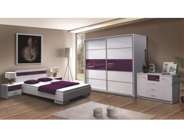Ložnice DUBAJ F (postel 160, skříň, komoda, 2 noční stolky)