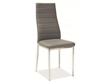 Jídelní čalouněná židle H-261 šedá
