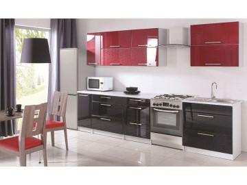 Kuchyně na míru FLOWERS červená