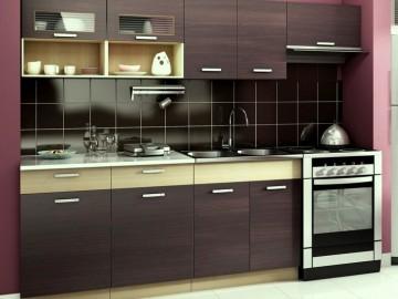 Kuchyně MORENO II 240 kaštan