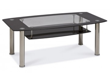Konferenční stolek TWIST C černá polička