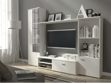 Obývací stěna HUGO bílá