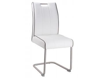 Jídelní čalouněná židle LEVANTO-754 bílá/ocel
