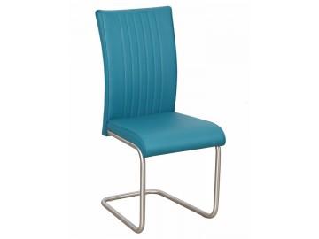 Jídelní čalouněná židle PASSAU-753 tyrkys/ocel
