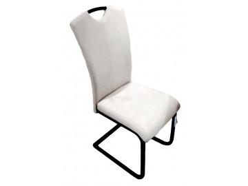 Jídelní čalouněná židle TREVISO bílá/černá