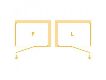 Čtvercový sprchový kout Pilas II  90 cm, levé provedení, chrom, čiré sklo