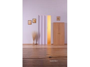 Shrnovací dveře KIT LUCIANA, plné - bez prosklení, č.01 - bílé