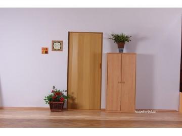 Shrnovací dveře KIT LUCIANA, plné - bez prosklení, č.07 - jasan