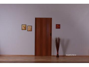 Lamela LUCIANA na shrnovací dveře, plná - bez skel, č.10 - mahagon