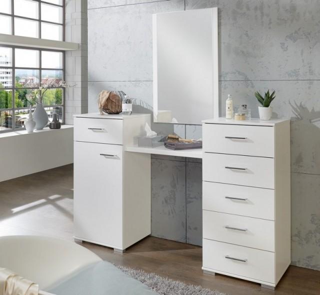 Novinka především pro dámy! Praktický toaletní stolek s velkým úložným prostorem a zrcadlem - co víc si může žena ve své ložnici přát?