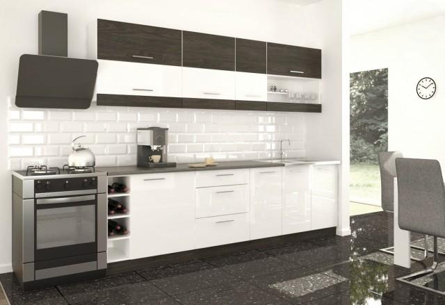 Kuchyně MODO 260 carbon marine/bílý lesk