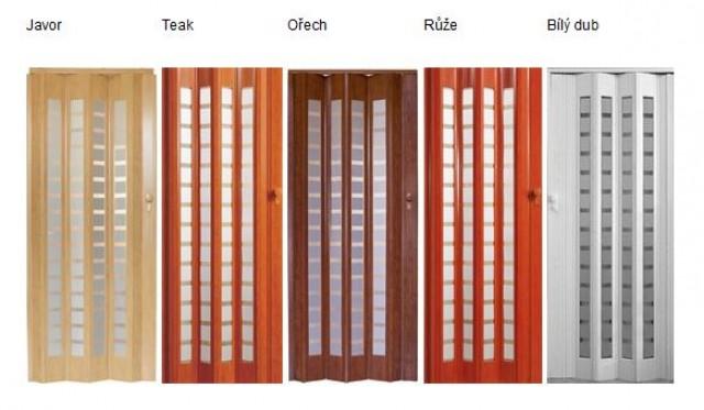 Nové a inovativní shrnovací dveře PLATINUM, které Vám výrazně ušetří potřebný prostor pro otevírání dveří a navíc jejich dekory můžete jednoduše kombinovat se stávajícím interiérem - nabízíme nyní v 5ti zajímavých provedeních