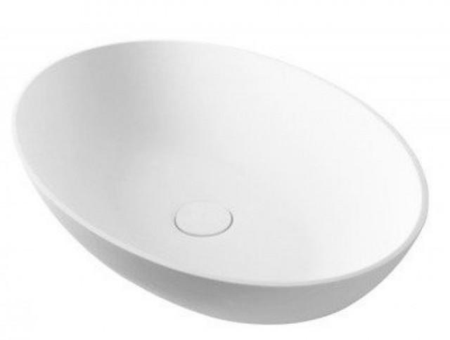 Sapho THIN oválné umyvadlo na desku, 600x400x145mm, bílá mat