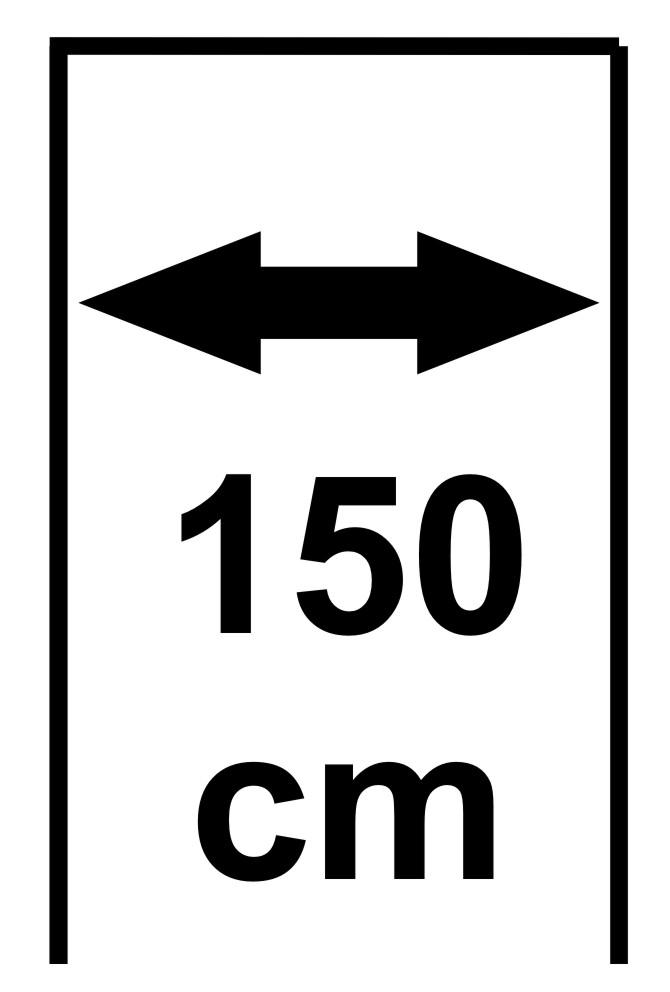 150 cm (stavební otvor 148-157 cm)