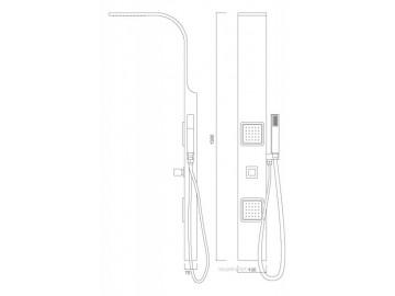Sprchový panel S266