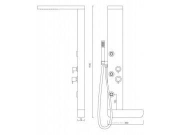 Sprchový panel S270