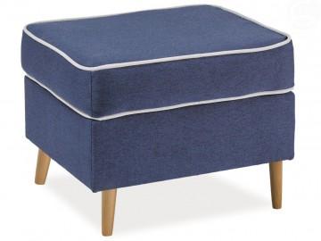 Čalouněný taburet RALPH P-1 - HC80 modrá