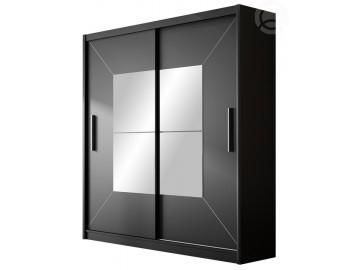 Šatní skříň BOSTON černá