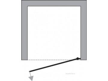 Sprchové dveře SORIA 80x185 cm (leštěný hliník, čiré sklo)