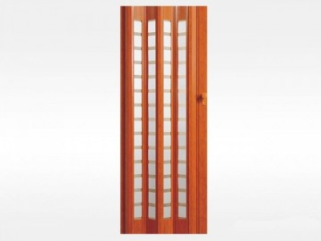 Plastové Hopa Shrnovací dveře PLATINUM, prosklené - teak