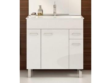 Koupelnová skříňka s umyvadlem Catania D80 bílý lesk